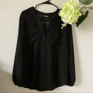 Express Chelsea popover blouse Sz L